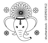 indian elephant ganesha with... | Shutterstock .eps vector #1453901912