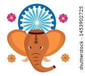 indian elephant ganesha with... | Shutterstock .eps vector #1453902725