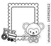 cute little monkey baby with... | Shutterstock .eps vector #1453902812