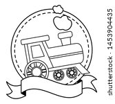 baby toys train sticker ribbon... | Shutterstock .eps vector #1453904435