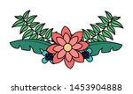 flower leaves foliage... | Shutterstock .eps vector #1453904888
