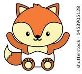 cute little fox baby character... | Shutterstock .eps vector #1453905128