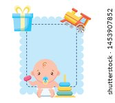boy with toys banner baby... | Shutterstock .eps vector #1453907852