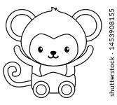 cute little monkey baby... | Shutterstock .eps vector #1453908155