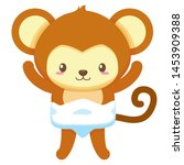 cute little monkey baby... | Shutterstock .eps vector #1453909388