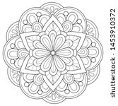 adult coloring book page a zen... | Shutterstock .eps vector #1453910372
