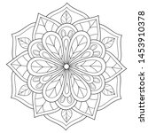 adult coloring book page a zen... | Shutterstock .eps vector #1453910378