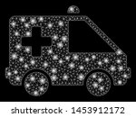bright mesh emergency car with... | Shutterstock .eps vector #1453912172