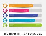 modern colorful 3d chart  graph.... | Shutterstock .eps vector #1453937312