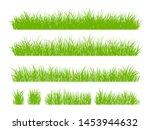 set of fresh green grass... | Shutterstock .eps vector #1453944632