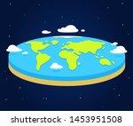 cartoon flat earth illustration ... | Shutterstock .eps vector #1453951508