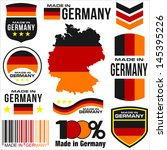 shield emblem stamp label flag vector Germany symbol barcode
