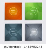modern vinyl records music... | Shutterstock .eps vector #1453953245