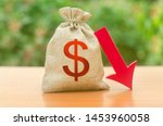 money bag with dollar symbol... | Shutterstock . vector #1453960058