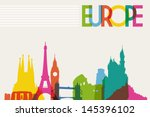 diversity monuments of europe ... | Shutterstock .eps vector #145396102