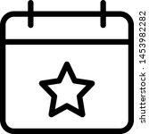 favorite calendar with five... | Shutterstock .eps vector #1453982282