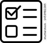 conventional ballot paper... | Shutterstock .eps vector #1453982285