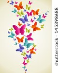 spring butterfly color... | Shutterstock .eps vector #145398688