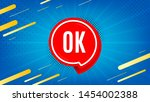 ok badge. approved chat bubble... | Shutterstock .eps vector #1454002388