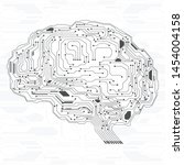 brain futuristic hud algorithm...
