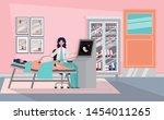 pregnancy woman in clinic... | Shutterstock .eps vector #1454011265