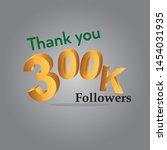 thank you followers gold sign.... | Shutterstock .eps vector #1454031935