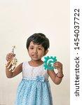 kid telling story or little... | Shutterstock . vector #1454037722