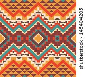 seamless colorful aztec pattern | Shutterstock .eps vector #145404205