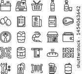 supermarket icons pack....   Shutterstock .eps vector #1454063642
