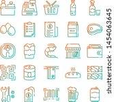 supermarket icons pack....   Shutterstock .eps vector #1454063645