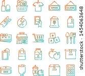 supermarket icons pack....   Shutterstock .eps vector #1454063648