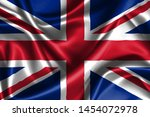 realistic wavy flag of united... | Shutterstock . vector #1454072978
