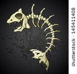 Fish Bones Skeleton Cartoon...