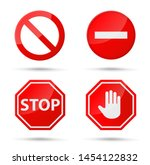 stop sign icon notifications... | Shutterstock .eps vector #1454122832