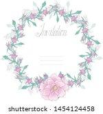 isolated on white vector tangle ...   Shutterstock .eps vector #1454124458