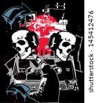 urban skulls in hip hop city... | Shutterstock .eps vector #145412476