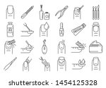 Nail Manicure Icons Set....