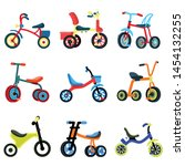 Tricycle Icons Set. Flat Set Of ...