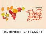 happy thanksgiving day.... | Shutterstock .eps vector #1454132345