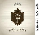 menu design over vintage... | Shutterstock .eps vector #145414078