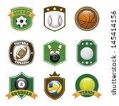 sports labels over white... | Shutterstock .eps vector #145414156