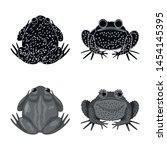 vector illustration of wildlife ... | Shutterstock .eps vector #1454145395