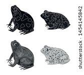 vector design of wildlife and... | Shutterstock .eps vector #1454145842