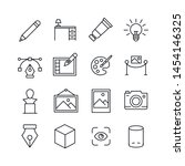 simple set of art icons in... | Shutterstock .eps vector #1454146325