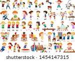 boys  girls  children in...   Shutterstock .eps vector #1454147315