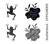 vector design of wildlife and... | Shutterstock .eps vector #1454148305