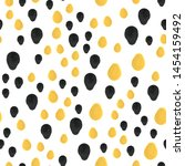 smear paint black and yellow... | Shutterstock .eps vector #1454159492