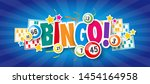 bingo   with lottery balls and... | Shutterstock . vector #1454164958