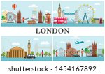 travel to london composition... | Shutterstock .eps vector #1454167892