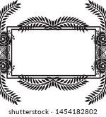 floral frame. floral wreath.... | Shutterstock .eps vector #1454182802